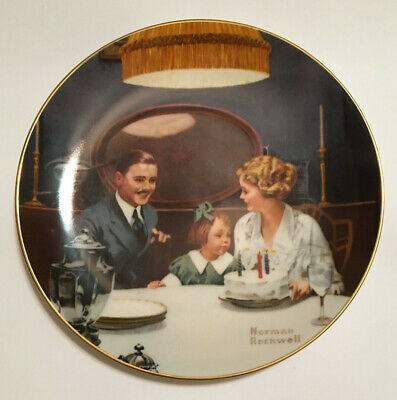 """$ CDN3.76 • Buy Norman Rockwell """"The Birthday Wish"""" Collector Plate"""