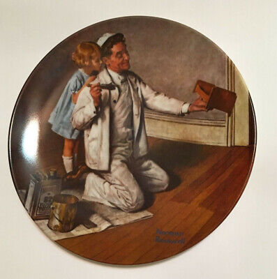 """$ CDN3.76 • Buy Norman Rockwell """"The Painter"""" Collector Plate"""