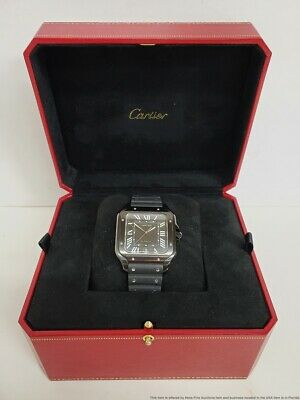 $3509 • Buy Large Size Cartier Automatic Black WSS A0039 Box And Papers Keeping Good Time