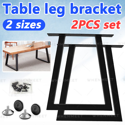 £37.28 • Buy 2P Industrial Table Legs Steel Metal Trapezium For Dining/Bench/Office/Desk UK
