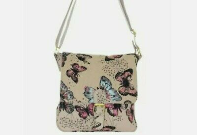 £8.95 • Buy Canvas Crossbody Bag With Butterfly Print.Size 23cm X 20cm. 25% Off, RRP £12
