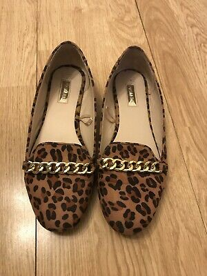 £1.20 • Buy Ladies Leopard Print Dolly Flat Shoes Size 4 Loafer