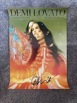 £29.99 • Buy Demi Lovato Dancing With The Devil The Art Of Starting Over Signed Poster