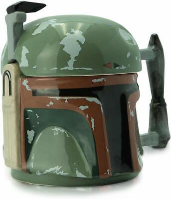 £19.95 • Buy Official Star Wars Boba Fett 3d Shaped Coffee Mug Tea Cup With Lid New Gift Box