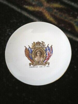 £3.50 • Buy China Coronation Plate June 2nd 1953 Aprox 5.5 Inches Both High And Across