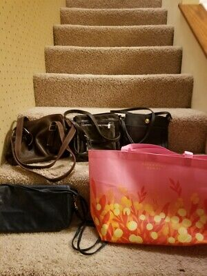 $ CDN18.87 • Buy Womens Purses & Handbags Lot Of 5 Tote Bag And 4 Purses Tommy Hilfiger And More