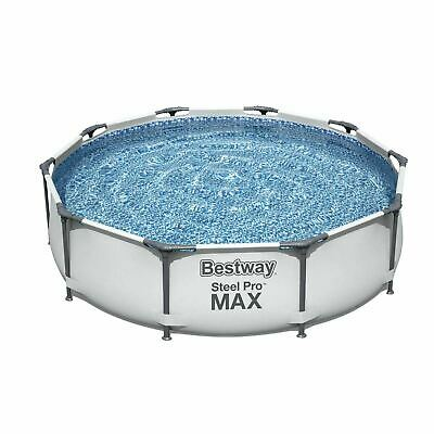 £189.99 • Buy Bestway 10ft Steel Pro Max Above Ground Swimming Pool ✅ Filter Pump✅Fast Postage
