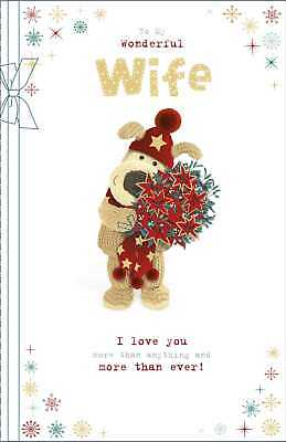 £6.29 • Buy Boofle To My Wonderful Wife Christmas Greeting Card Cute Xmas Cards