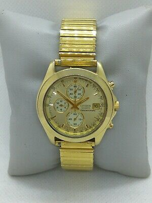 £40 • Buy Citizen Chronograph Japan 0510 Gold Plated Gents Watch
