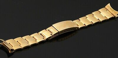 $ CDN6268.24 • Buy Rolex Oyster Heavy 18K Gold Watch Band/bracelet With 19mm Ends