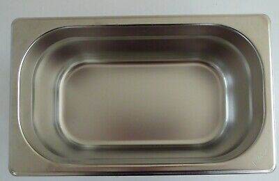 £5 • Buy Vogue Stainless Steel 1/4 Size Gastronorm Pan Bain Marie Pot K819