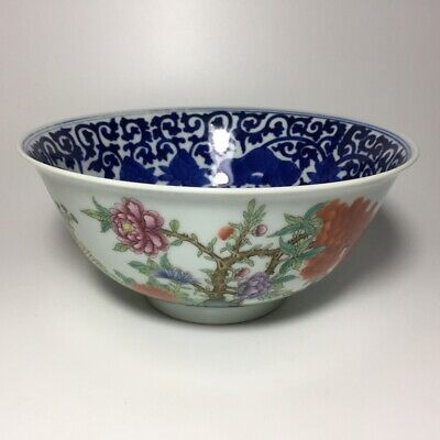 £14.83 • Buy Chinese Antique Famille Rose & Blue White Porcelain Bowl Qing XuanTong Period