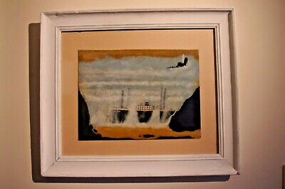 £149 • Buy Max Wildman After Alfred Wallis - Large Framed Painting - St Ives/Cornish Art