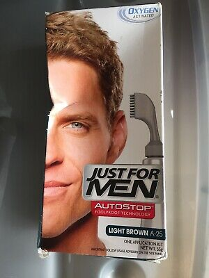 £10.95 • Buy Just For Men Autostop Oxygen Activated Color Light Brown A25 Brand New