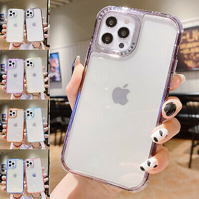 AU13.99 • Buy For IPhone 12 11 Pro Max XS XR 8 7+ SE2 Shockproof Bumper Clear Phone Case Cover