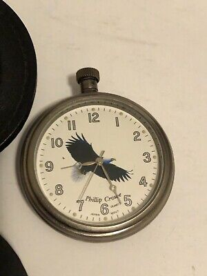 $37.99 • Buy Vintage Phillip Crowe Pocket Watch With Case Majesti Watch Co Signature Series