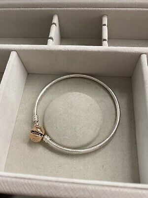 AU60 • Buy Pandora Silver Braclet With Rose Gold Clasp