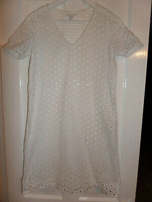 £9.99 • Buy The White Company Open Lace Beach Cover Up Dress Size 8