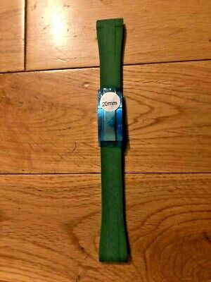 £35 • Buy 20MM Oysterflex GREEN Rubber Silicone Watch Strap & Clasp For Rolex