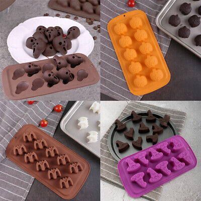 £3.19 • Buy Silicone Halloween Ghost Chocolate Mould Candy Cookies Ice Cube Tray Jelly Mold