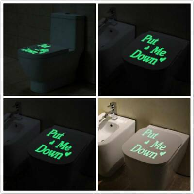 £2.62 • Buy Me Night Wall Stickers Toilet Stickers Light Letters Down Love Toilet Decal Y2