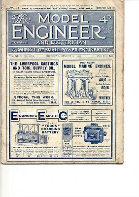 £4.99 • Buy THE MODEL ENGINEER AND ELECTRICIAN  AUGUST 9. 1923. VOL XIIX. No. 1163.