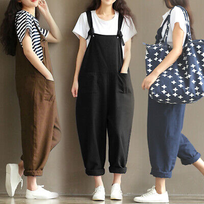 £8.99 • Buy UK Women Loose Dungarees Jumpsuit Oversize Baggy Overalls Strappy Harem Trousers