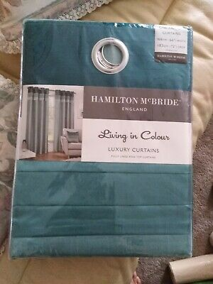 £16.70 • Buy Seattle Ring Top Lined Curtains Teal, 66  Width, 72  Drop