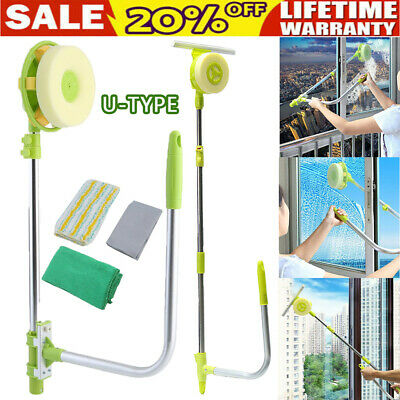 £19.99 • Buy U-type Telescopic High Rise Window Cleaner Glass Dust Cleaning Squeegee Brush