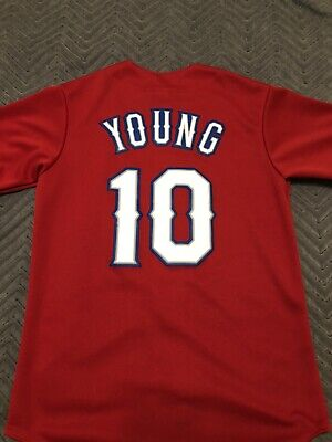 $24.95 • Buy Michael Young Texas Ranges Jersey Red Size Small Good Condition