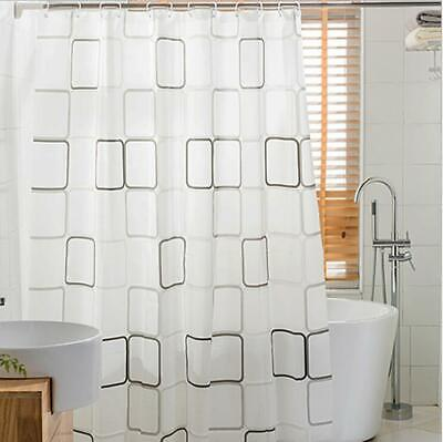 £4.59 • Buy Extra Long Bathroom Shower Curtain With Ring Hooks Waterproof Washable Curtains