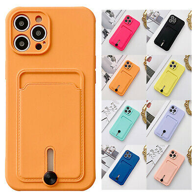 AU8.59 • Buy Case For IPhone 12 11 Pro Max XS XR 8 Silicone Soft Card Holder Shockproof Cover