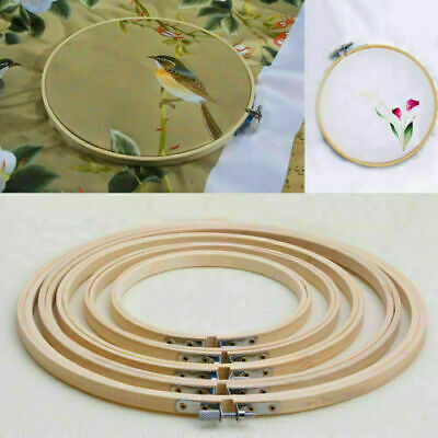£5.03 • Buy 10-36cm Cross Stitch Machine Embroidery Hoop Ring Nature Bamboo Sewing Frame