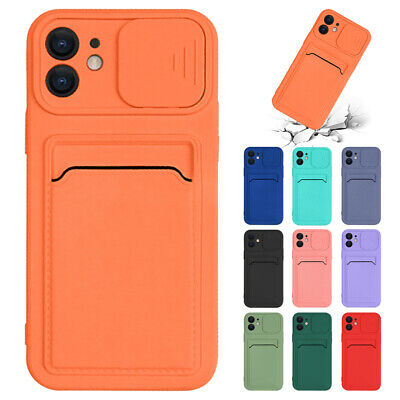 AU8.59 • Buy Slide Case For IPhone 11 12 Pro Max XS XR 8 TPU Wallet Card Slot Slim Soft Cover