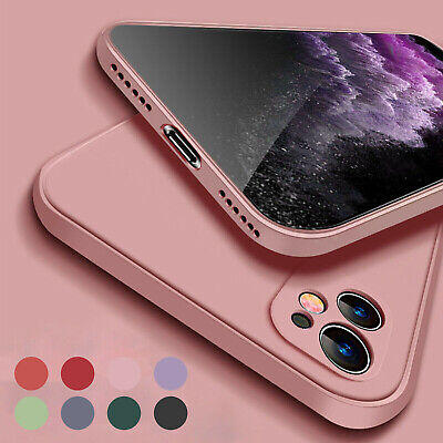 AU12.99 • Buy For IPhone 11 12 Pro Max XS XR X 8 7+ Case Square Liquid Rubber Shockproof Cover