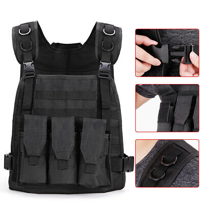 $21.77 • Buy Military Tactical Vest Gun Holder Molle Airsoft Combat Assault Hunting Gear USA