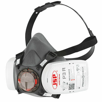 £16.50 • Buy JSP Force 8 (Medium) Protective Safety Mask P3 Press To Check Filters Included