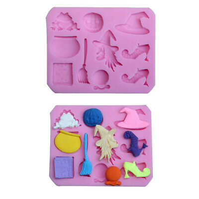 £3.79 • Buy Halloween Witch Silicone Mould Chocolate Fondant Cake Decor Molds Baking Topper