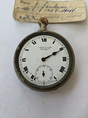 £5.45 • Buy 1920s Greenwich Lever Mechanical Pocket Watch (Spares/Repairs)