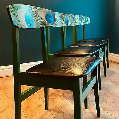 £199 • Buy Set Of Four 1960s Mid-century Emerald Green Beech Dining Room Chairs