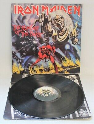 £8.50 • Buy IRON MAIDEN 'Number Of The Beast' 1982 Vinyl LP With Inner A2/B3 - Y96
