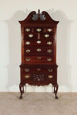$2395 • Buy THOMASVILLE 18th C. 12 Drawer Chinese Chippendale 2 Piece Highboy Tall Chest