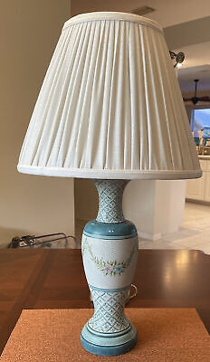 """$189 • Buy Vintage Maitland Smith 26"""" Hand Made Table Lamp"""