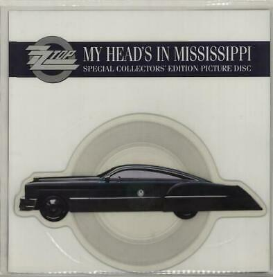 £23.99 • Buy EX/EX ZZ TOP My Head's In Mississippi Shaped Picture Disc + Card Dusty Hill