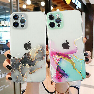 AU11.49 • Buy For IPhone 11 12 Pro Max XS XR 8+ Case Shockproof Clear Marble Pattern TPU Cover