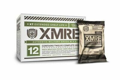 $88 • Buy XMRE 1300XT Meals Ready To Eat (MRE) Military Grade CASE - 12 Pack