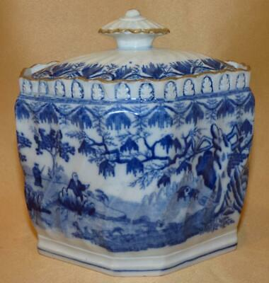 £30 • Buy Sowter & Co Pearlware Blue & White Chinese Men In A Garden Sucrier C1810
