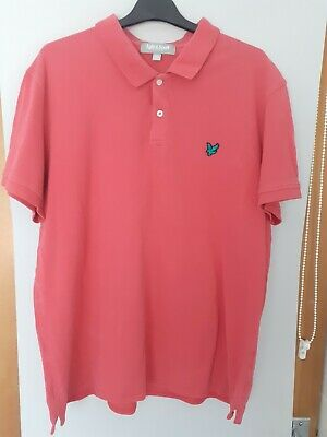£2.40 • Buy Mens Lyle And Scott Polo Shirt XXL Pink.