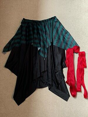 £1.99 • Buy Good Condition Adult Pirate Skirt And Ribbon Belts *Size Adult