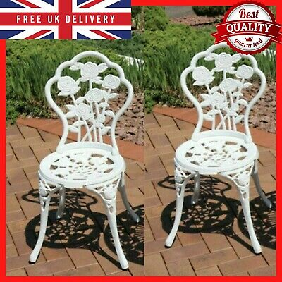 £118.99 • Buy Vintage Garden Chairs French Style Furniture Metal Bistro Patio Cast Iron Set 2